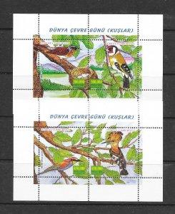 BIRDS- TURKEY #2800-1  MNH