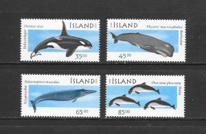 WHALES - ICELAND #873-6  MNH