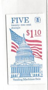 United States, BK145, Flag Over Capital Booklet Plt:# 1, MNH