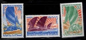 Mauritania Scott 251-253 MNH** Land Yacht Racing stamp set
