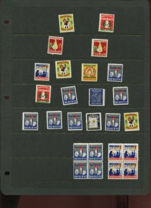 26 VINTAGE WAUKESHA COUNTY WISCONSINCHILD HEALTH POSTER STAMPS (L1218)