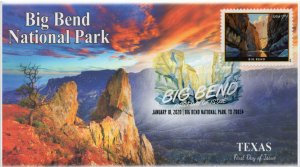 20-014, 2020, SC 5429, Big Bend National Park, DCP, FDC, Texas, $7.75