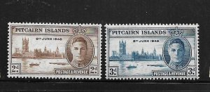 PITCAIRN ISLANDS, 9-10,  MINT HINGED, PEACE ISSUE