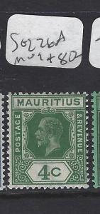 MAURITIUS   (P0810B)  KGV  4C  SG 226A    SCARCE   MOG