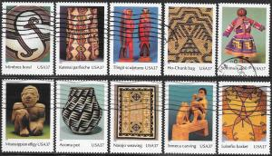 US 3873a-3873j Used - Art of the American Indian