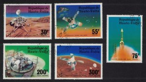 Upper Volta Viking Mars Probe Space Exploration 5v 1976 CTO SC#C240 MI#632-636
