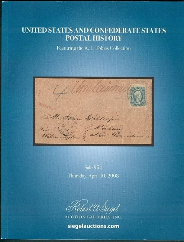 UNITED STATES & CONFEDERATE STATES POSTAL HISTORY catalog