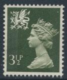 Great Britain Wales  SG W16 SC# WMMH3 Used   3½p Machin  see scan