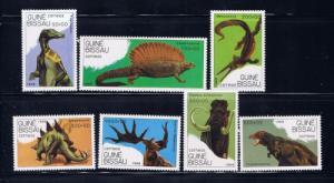 Guinea-Bissau 827-33 NH 1989 Prehistoric Animals
