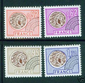 FRANCE Scott 1487-90 MNH** precancel set CV $6.55