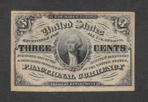 F1226 3c. Fractional Currency, scv: $200