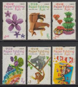 Hong Kong 2008 Paper Folding Fun Stamps Set of 6 MNH