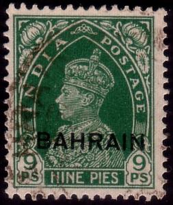BAHRAIN GVI 1938-41 9p SG22 fine used. SG cat £14..........................45166