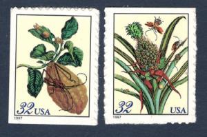 3126-27 Merian Botanical Set Of 2 Mint/nh FREE SHIPPING