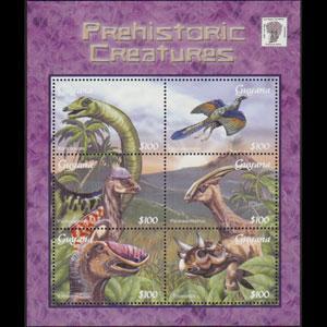 GUYANA 2001 - Scott# 3665 S/S Dinosaurs NH