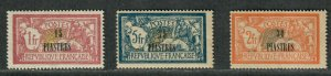 Fr. Office Turkey Sc#47-49 M/H/F-VF, High Values, Cv. $26.50