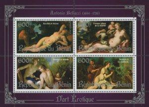 Erotic Art Paintings Antonio Bellucci Souvenir Sheet of 4 Stamps Mint NH