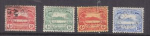 SOLOMON ISLANDS, 1908 Small Canoes, 1/2d., 1d., 2 1/2d. & 4d., used.