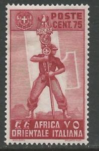 Italian East Africa # 11 Fascist Legionary (1) Unused VLH