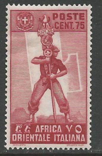 Italian East Africa # 11 Fascist Legionary (1) Unused VLH