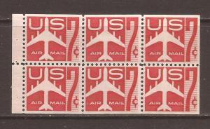 United States scott #C60a Booklet Pane m/nh stock #N4651