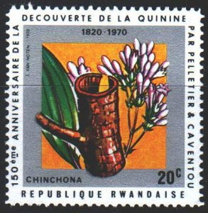 Rwanda. 1970. 408A from the series. 150th Anniversary of the Discovery of Qui...
