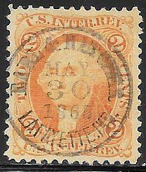 US R15c Used - US Internal Revenue - George Washington - Hand Stamped