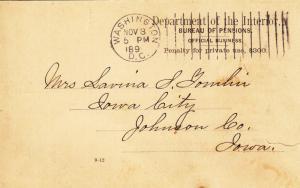 1899, Dept. of Interior, Bureau of Pensions, See Remark (26427)