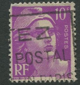 France - Scott 600 - General Definitive Issue -1948 - Used - Single 10fr Stamp