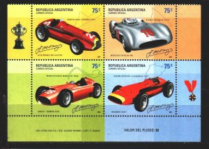 Argentina. 2001. 2682-85. Racing cars. MNH.