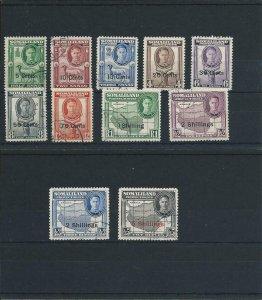 SOMALILAND 1951 SET OF ELEVEN FU SG 125/135 CAT £70