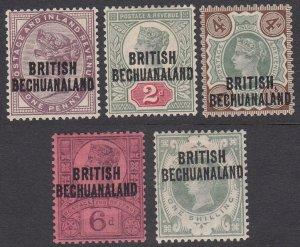 Bechuanaland 33-37, SG33-37 MH CV $62.50