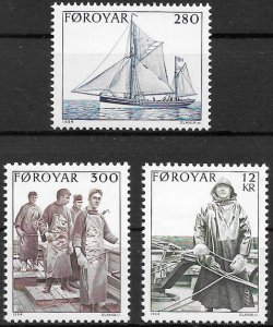 Faroe Islands 1984 #112-4 MNH. Fishing industry