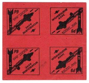(I.B) Cinderella Collection : Wombourne Rocket Mail 6d