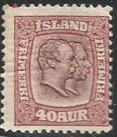 ICELAND Scott Cat #58 Mint(1903)