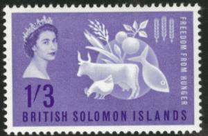 British Solomon Islands Scott 109 MH* 1963 Freedom Hunger
