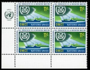 United Nations - New York 124 Mint (NH) Plate Block LL