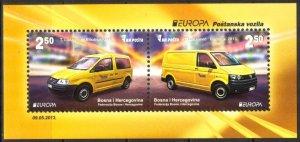 Bosnia 2013 Europa CEPT Postman Van Cars S/S MNH