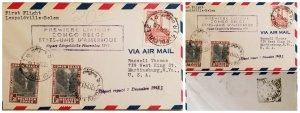 O) 1941 BELGIAN CONGO, COLONY, SUZA RIVER, WATERFALL, KING ALBERT MEMORIAL