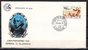 Brazil, Scott cat. 1155. Opera Centenary issue on a First day cover.