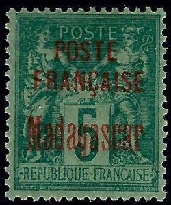 Madagascar 1895 Scott #14 Mint OG VF hr...Buy before prices go up!