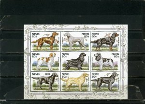 NEVIS 1995 Sc#907 DOGS SHEET OF 9 STAMPS MNH