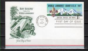 United States, 1967 issue. Idaho Scout Jamboree Postal Card.
