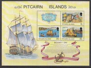 Pitcairn Islands, Sc 176a (5), MNH, 1978, Bounty Days