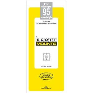 Scott/Prinz Pre-Cut Strips 265mm Long Stamp Mounts 265x95 #1033 Black