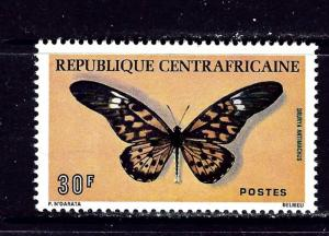 Central Africa 253 MNH 1976 Butterfly