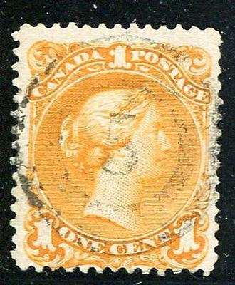 Canada #23a Used F-VF+   perfect 2 ring 5 cancel