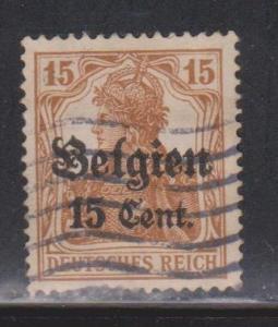 BELGIUM Scott # N15 Used - German Stamp With Overprint