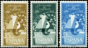 Spain Scott #839 - #841 Compete Set of 3 Mint Never Hinged
