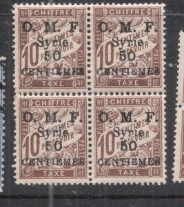 Syria Y&T T18 Block of Four MNH (2dng)